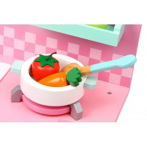 Cocina rosa de madera - Cocina rosa ...